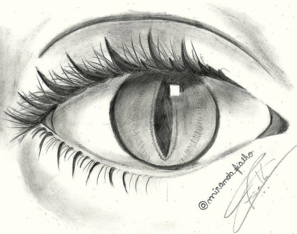 картинки глаз рисовать легко