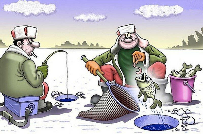 Смешные картинки про рыбалку зимнюю, приколы для спорта