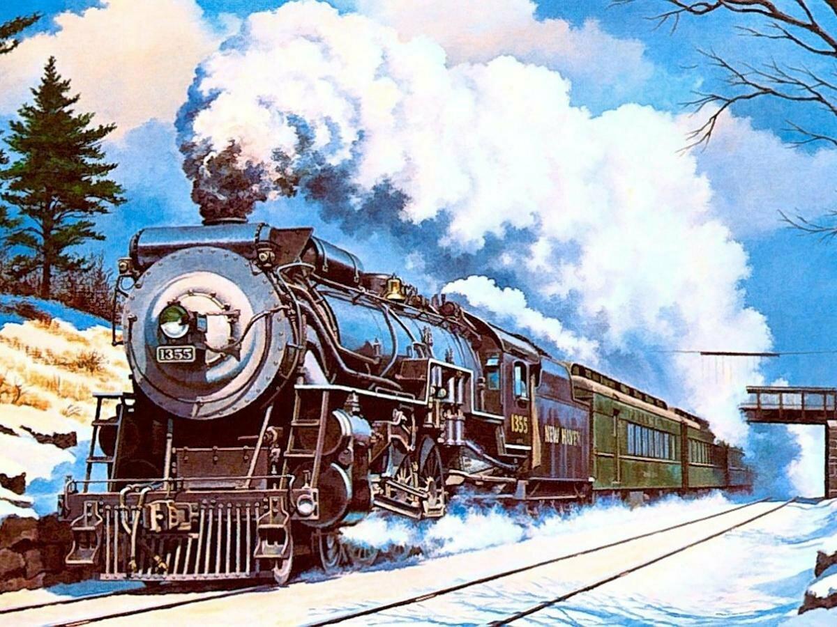 Надписью, открытка поезда