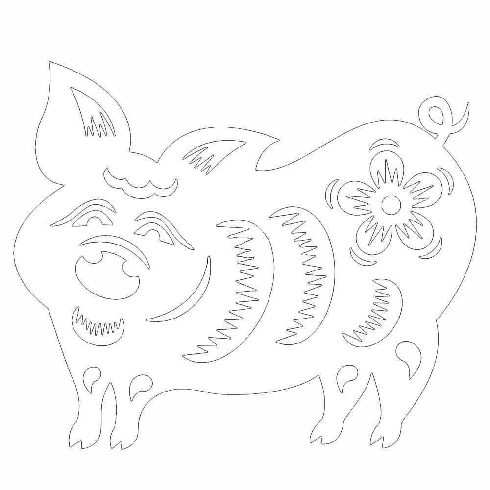 год свиньи рисунок на окне верхнему уровню ходят