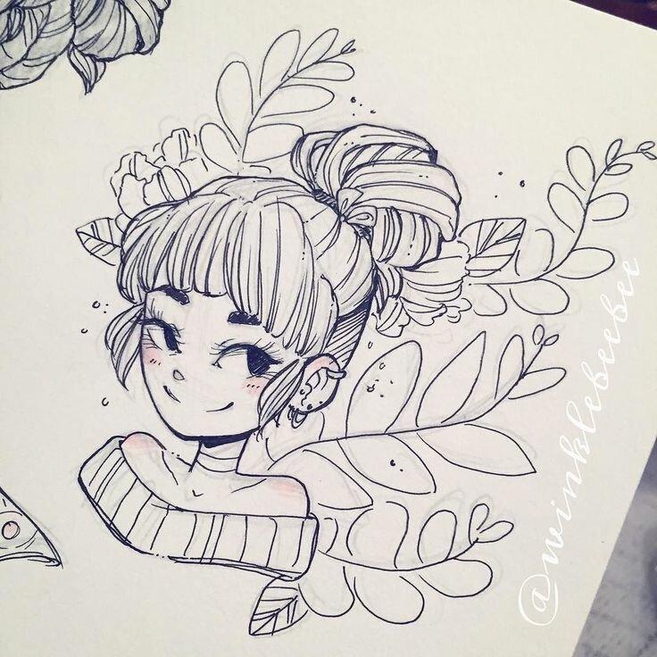Прикольные картинки для срисовки в скетчбук легкие для девочек аниме, картинки грудничками