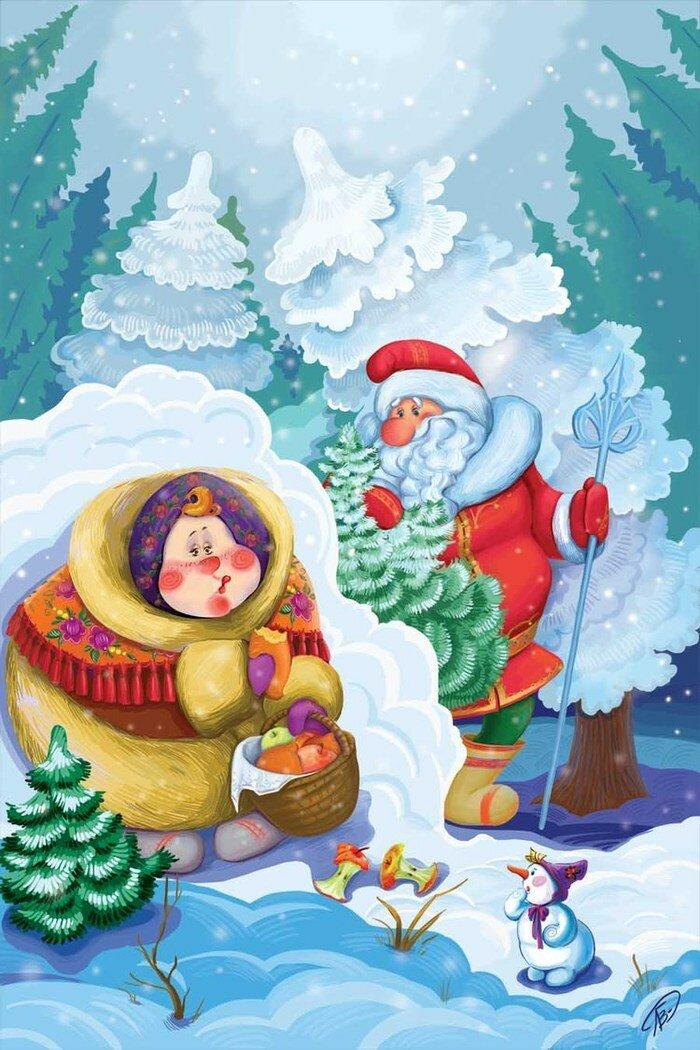 Сказочные зимние персонажи картинки