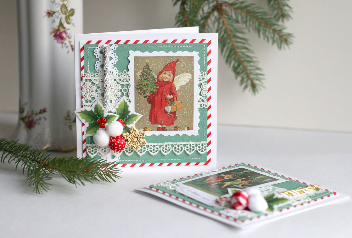 Красивые открытки с новым годом скрапбукинг