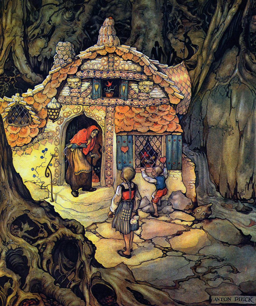 гензель и гретель пряничный домик картинки тени