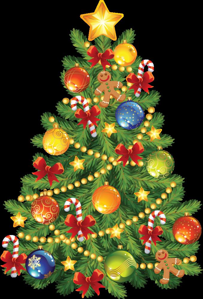 Красивые картинки елок новогодних