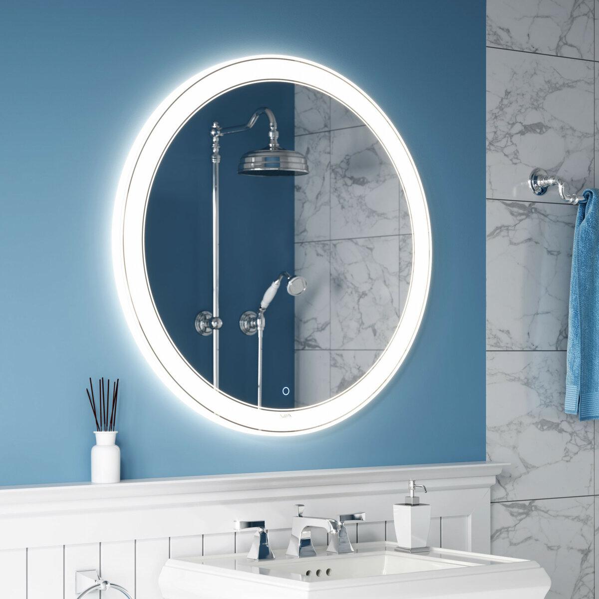 купить зеркало с подсветкой в ванную