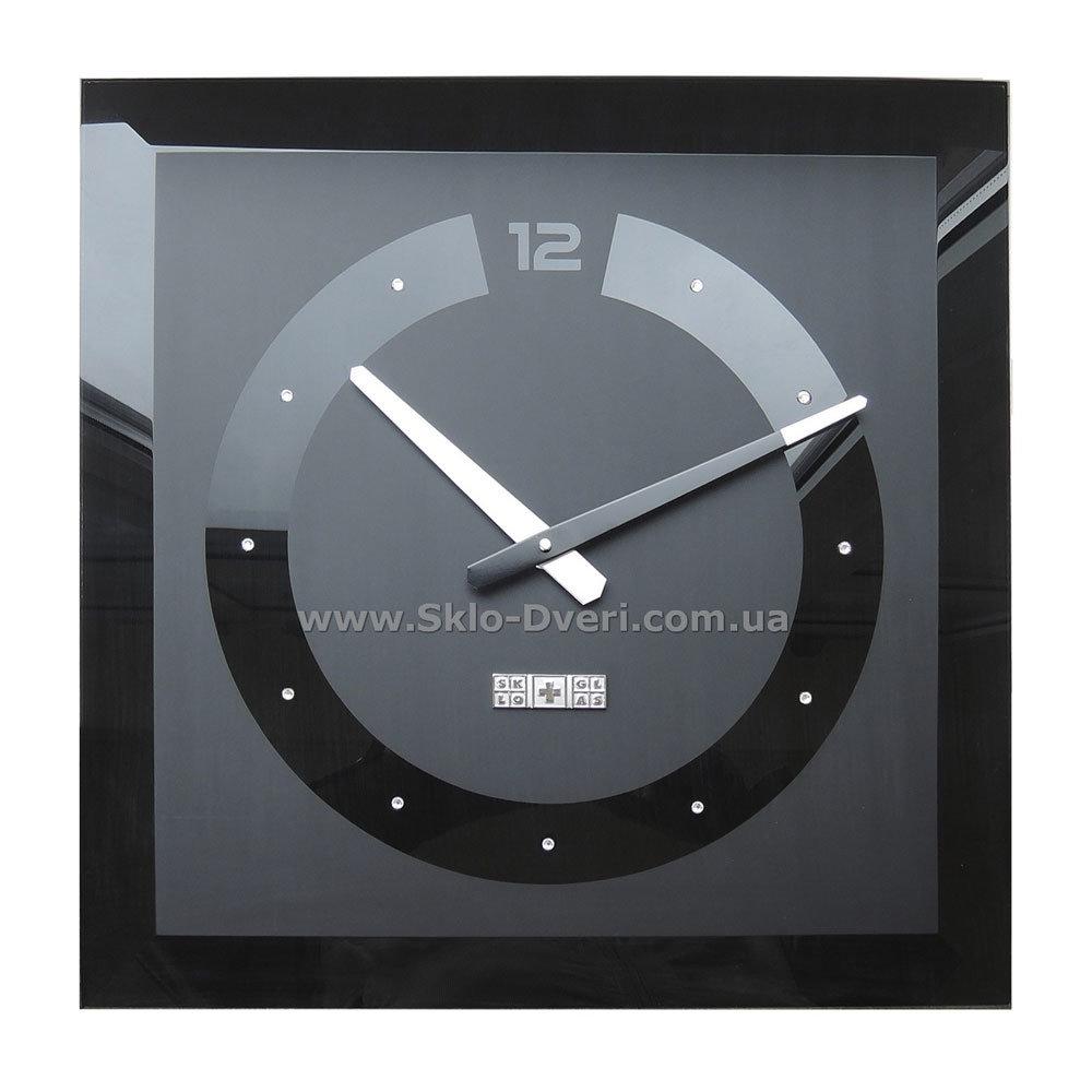 Настенные часы из выдутого стекла фото