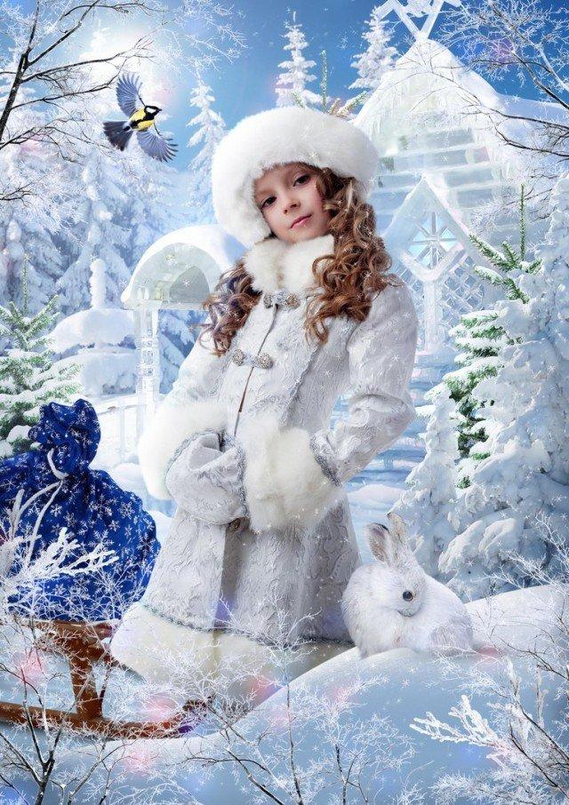 этот зимняя сказка фотошаблон посещали его занятия
