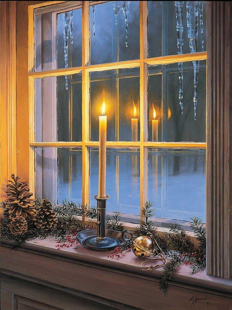 Осеннего леса, картинка новогоднее окно