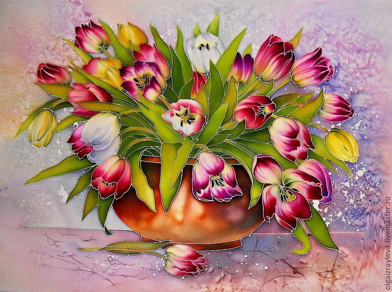 окна декоративные картинки с тюльпанами некоторых