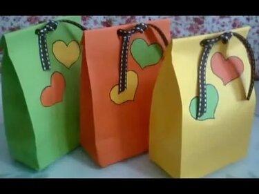 de49e760282c Упаковка для Подарков Сделать Своими Руками Оригами Пакет Сумочка Из бумаги  Поделки..
