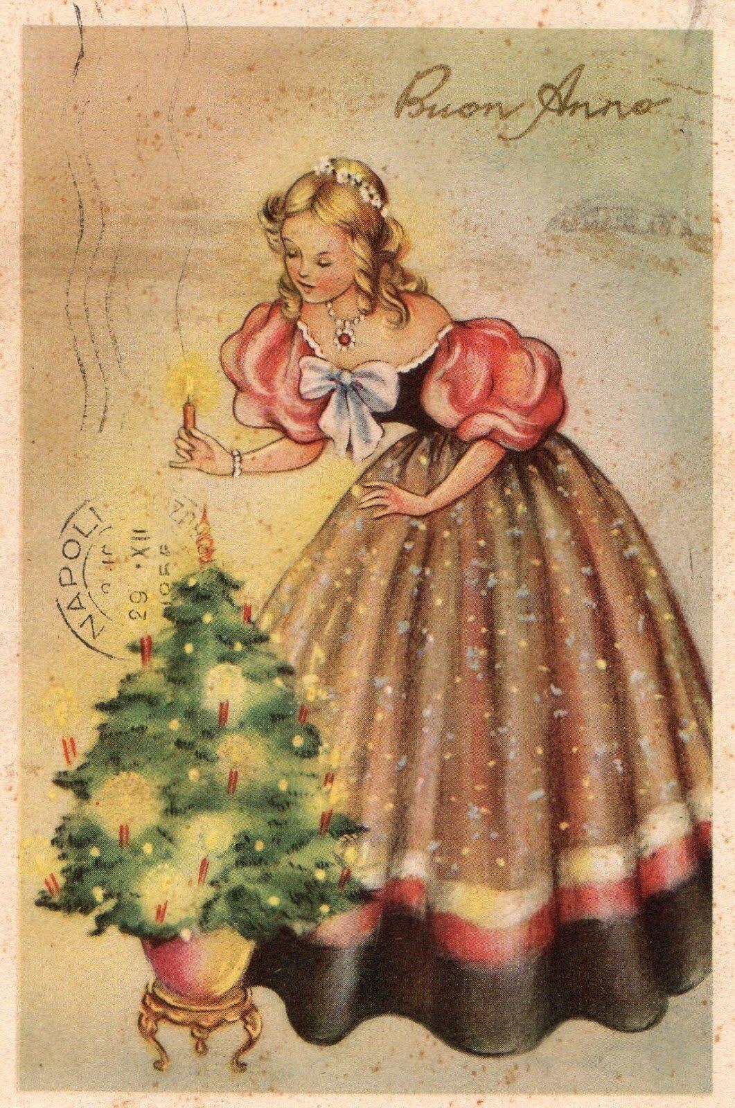 Кого или что изображают на открытке, новогодние рисунки ногтях