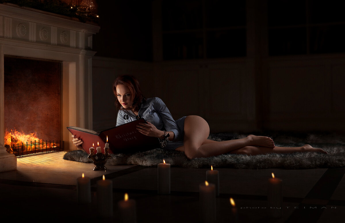very-hot-girl-by-fireplace