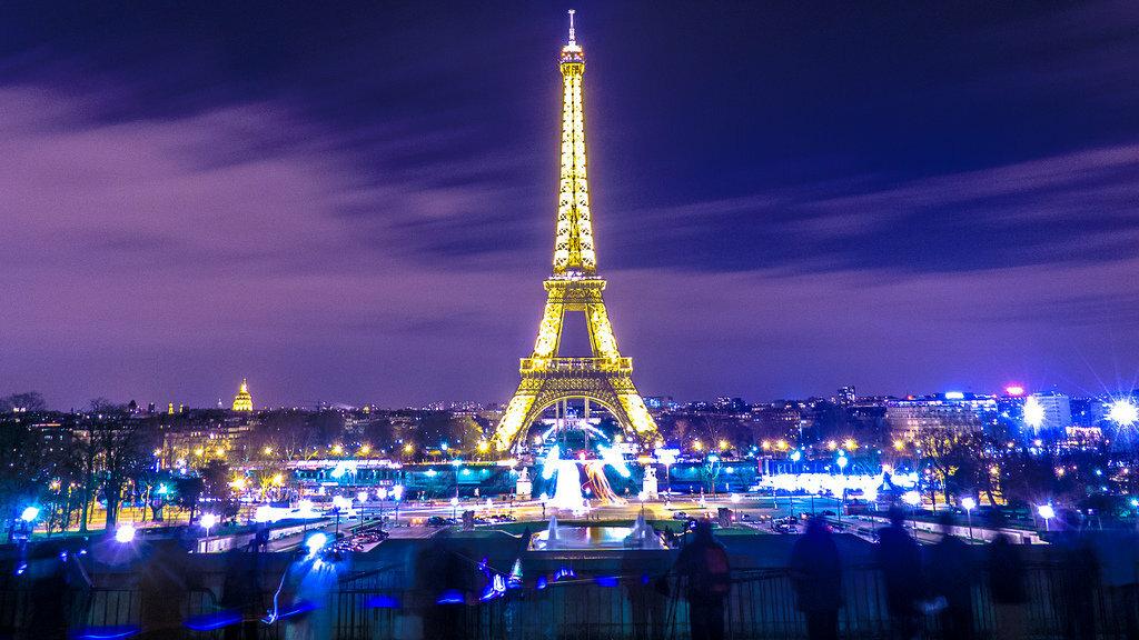 красивые картинки эйфелева башня ночью этой коллекции