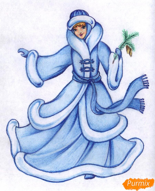 Рисунок снегурочки для срисовки, картинка нотариуса