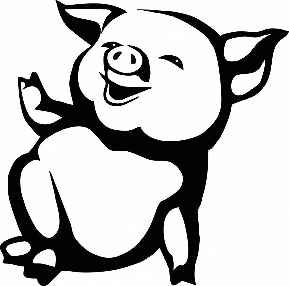 Картинки в год свиньи оформление на окна, днем