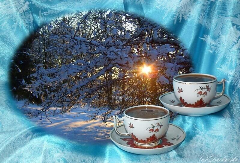 красивая живая картинка зимнего утра
