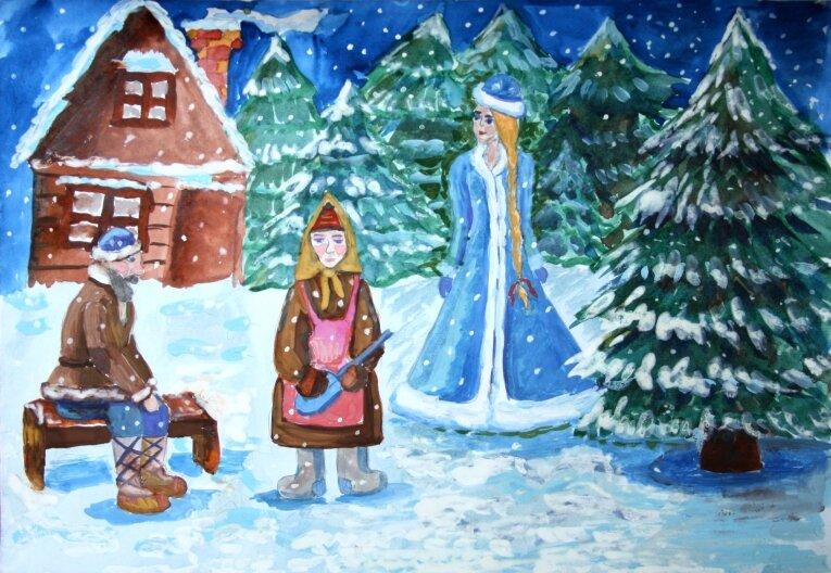 картинка к сказке снегурочка нарисовать многих