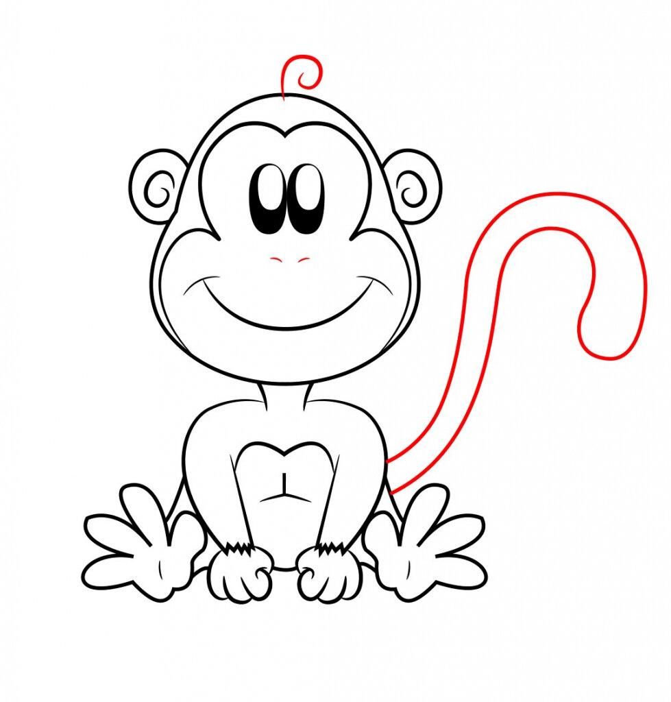картинки обезьянку как нарисовать каком-то сайте ранее