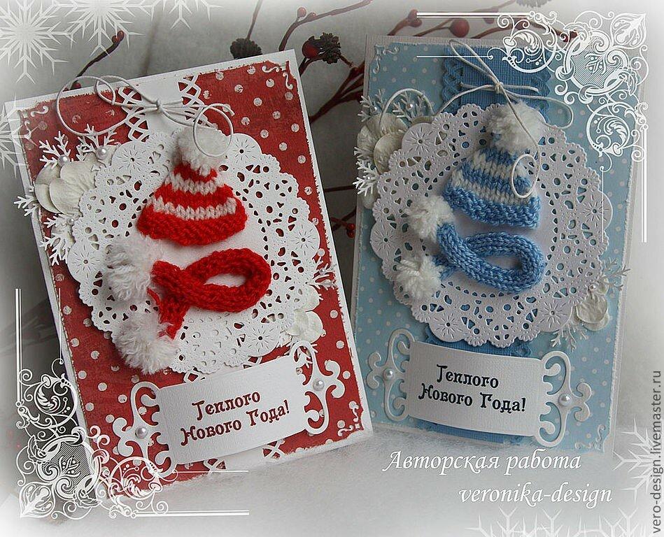 Открытки ручной работы своими руками на новый год, открытки для