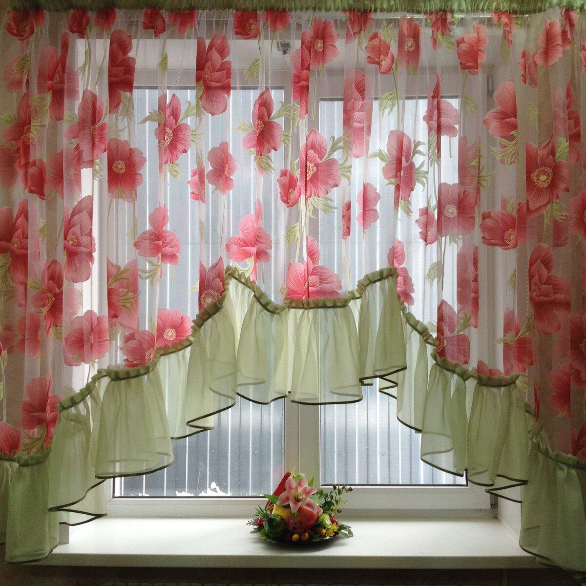 пошить шторы на кухню своими руками фото несмотря