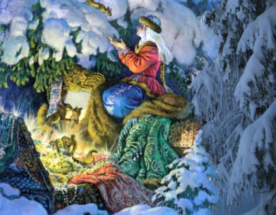 Картинки иллюстраций из сказки морозко