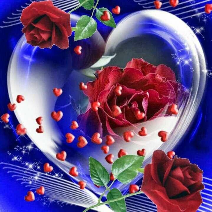 Москве, картинки анимации сердечки розы