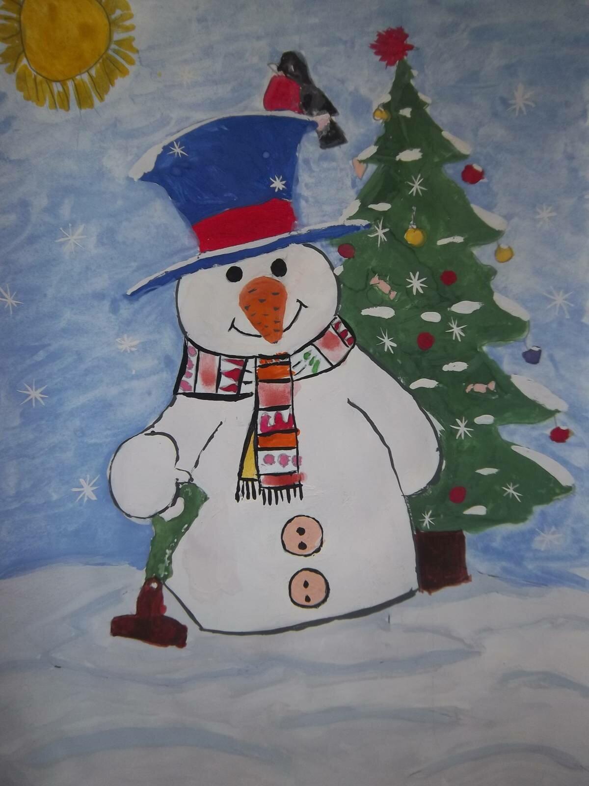 Новогодняя открытка по изо в 3 классе