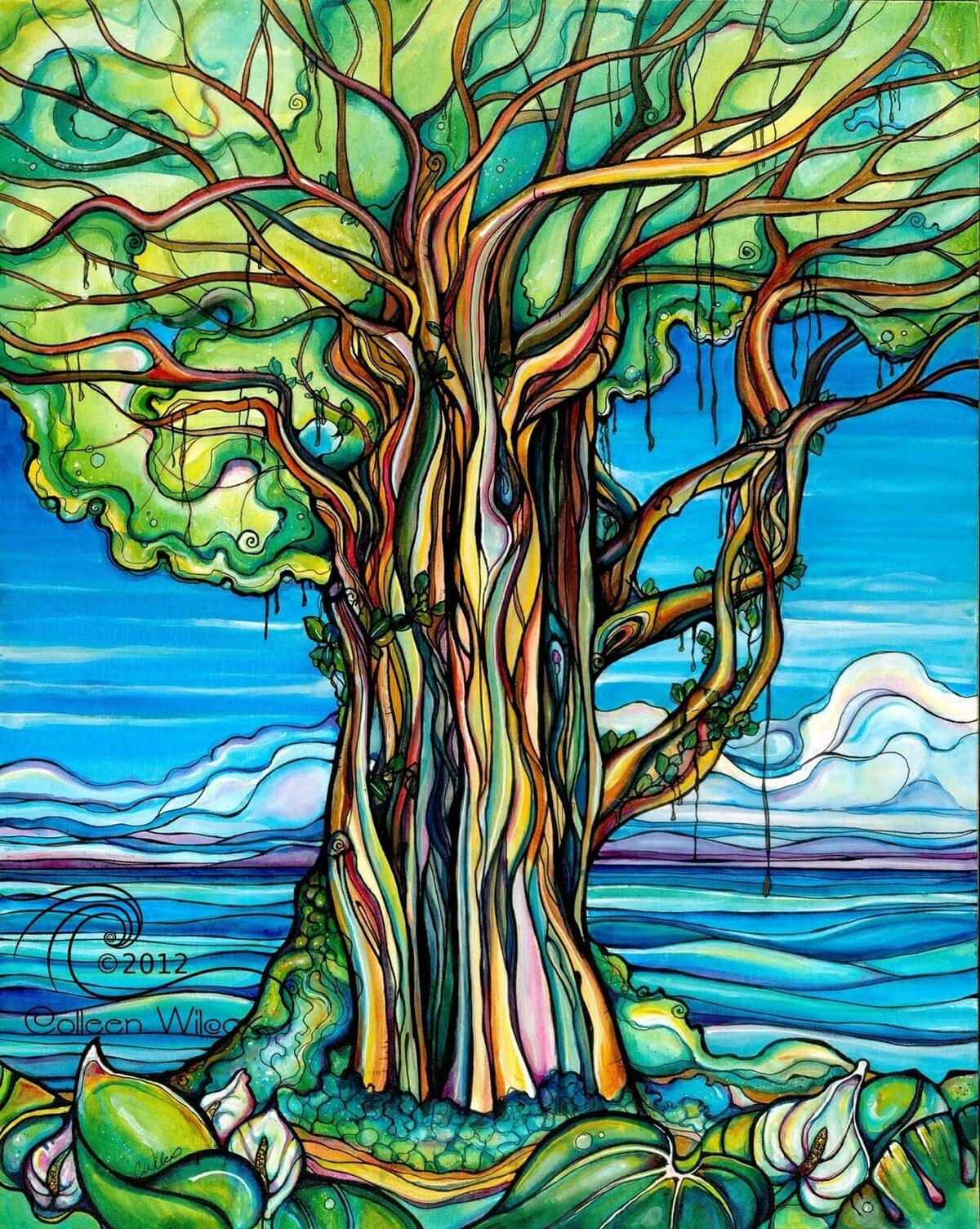 сказочное дерево рисунки собрали