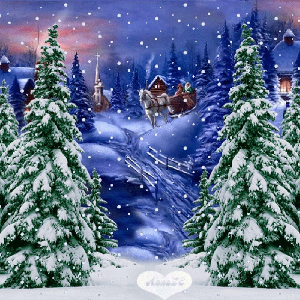 Картинки для, снег идет открытка
