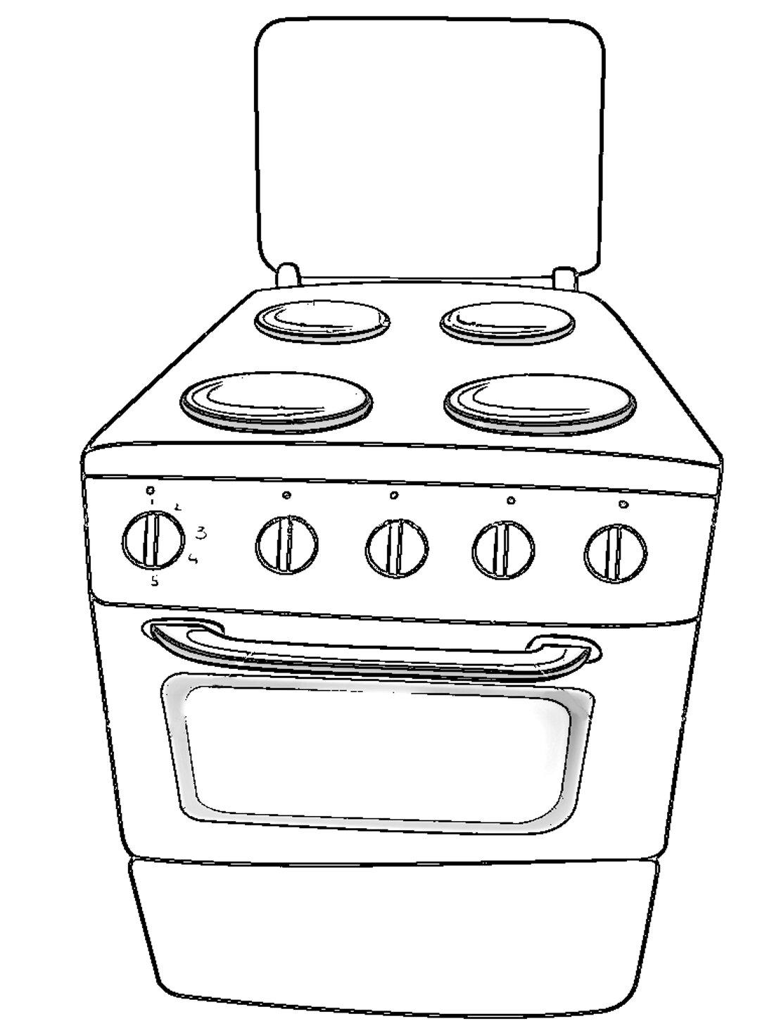 Открытки учителю, картинки газовая плита для детей