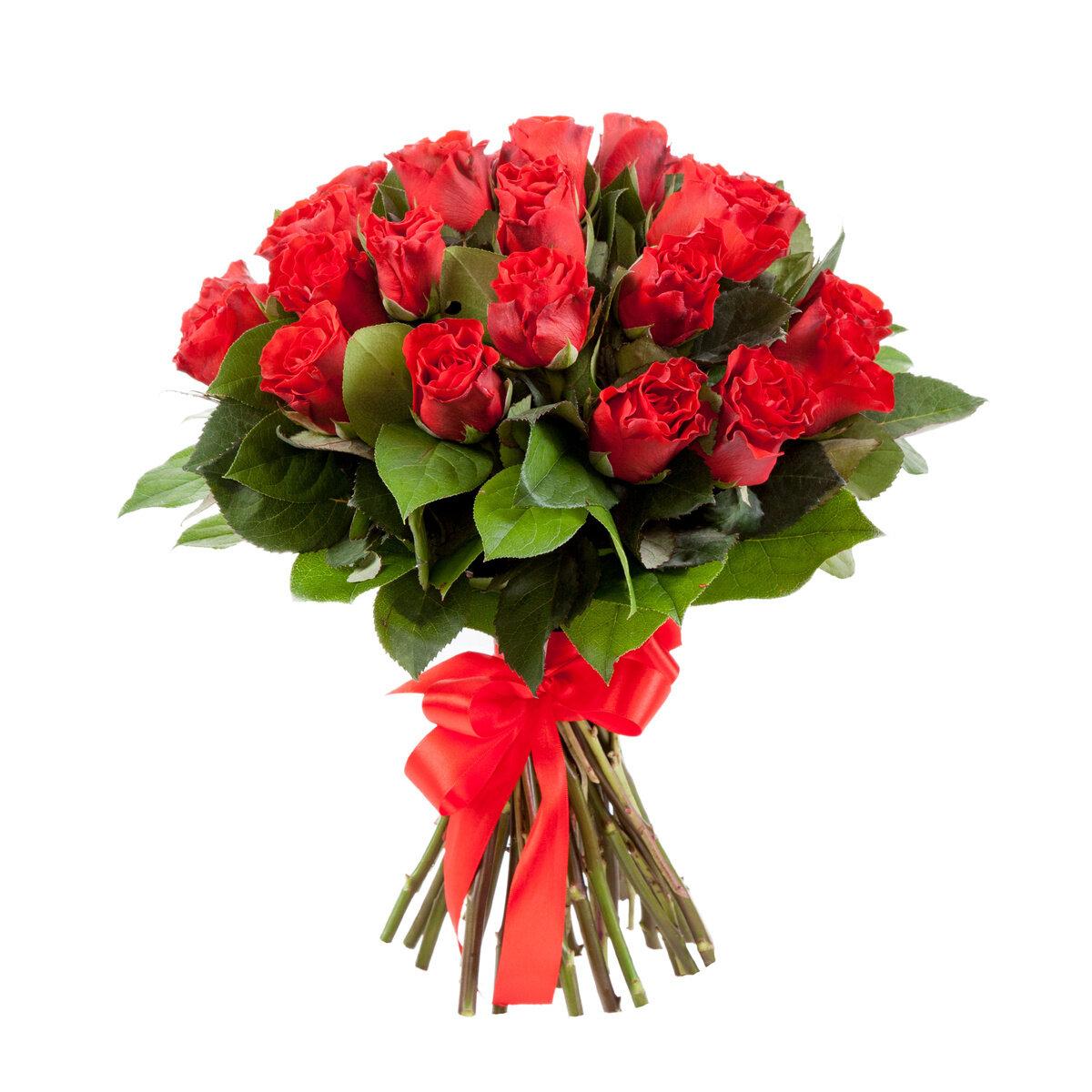 Букеты розы красные
