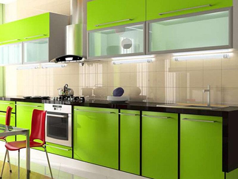 Кухни в вишнева зеленом цвете фото