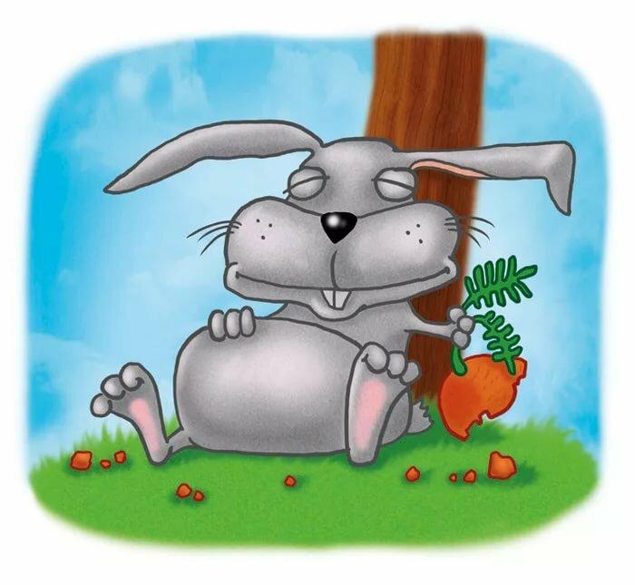 Смешной кролик рисунок