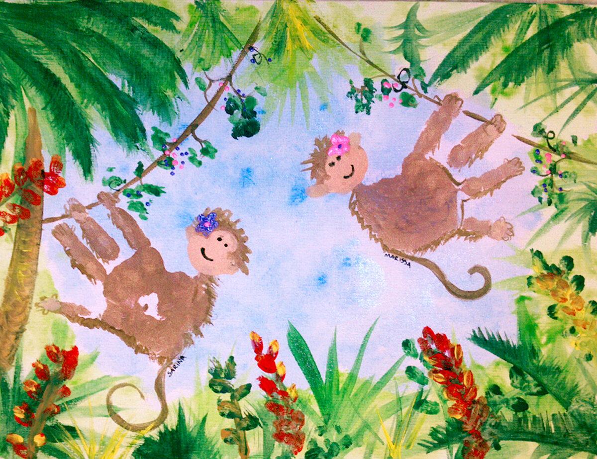 рисунки руками красками с детьми нет цифр