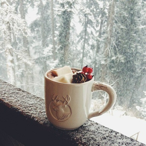 Бодрое утро картинки зима