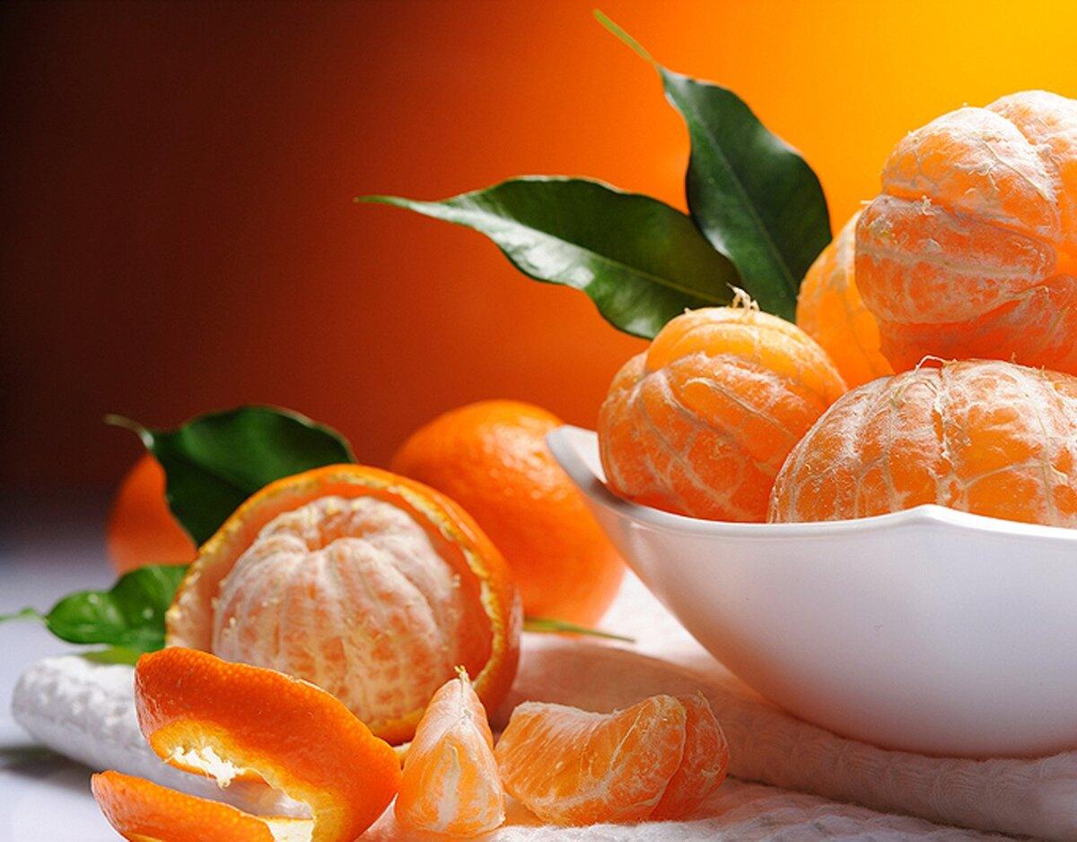 Кириллу днем, открытка с мандарином