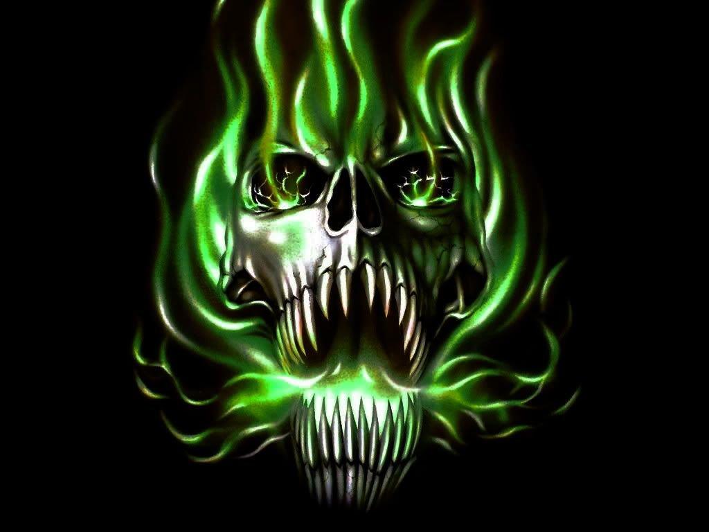 Кошкой, картинка с черепом зеленого огня картинка с черепом зеленого огня
