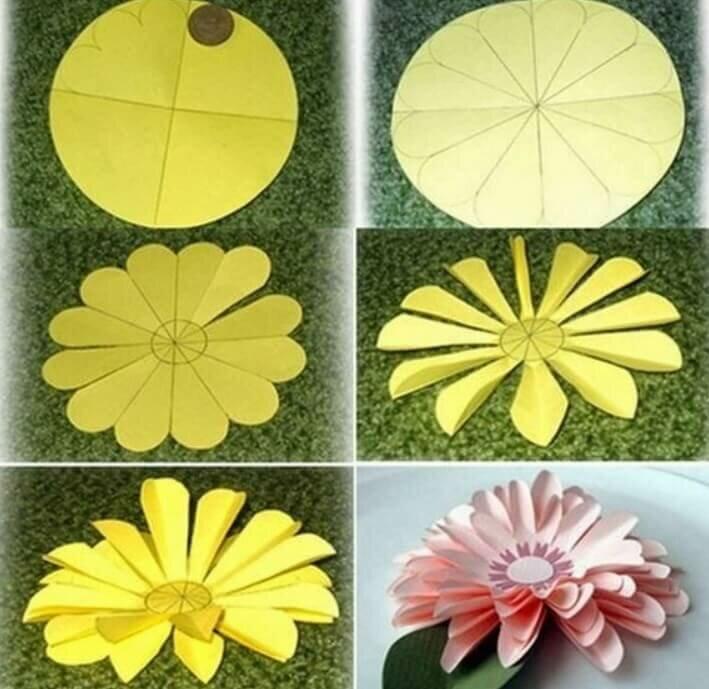 Как сделать цветок из бумаги на открытку быстро, ульяновск