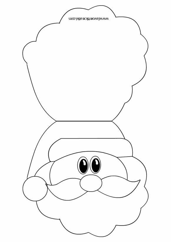 Санта клаус открытка шаблон