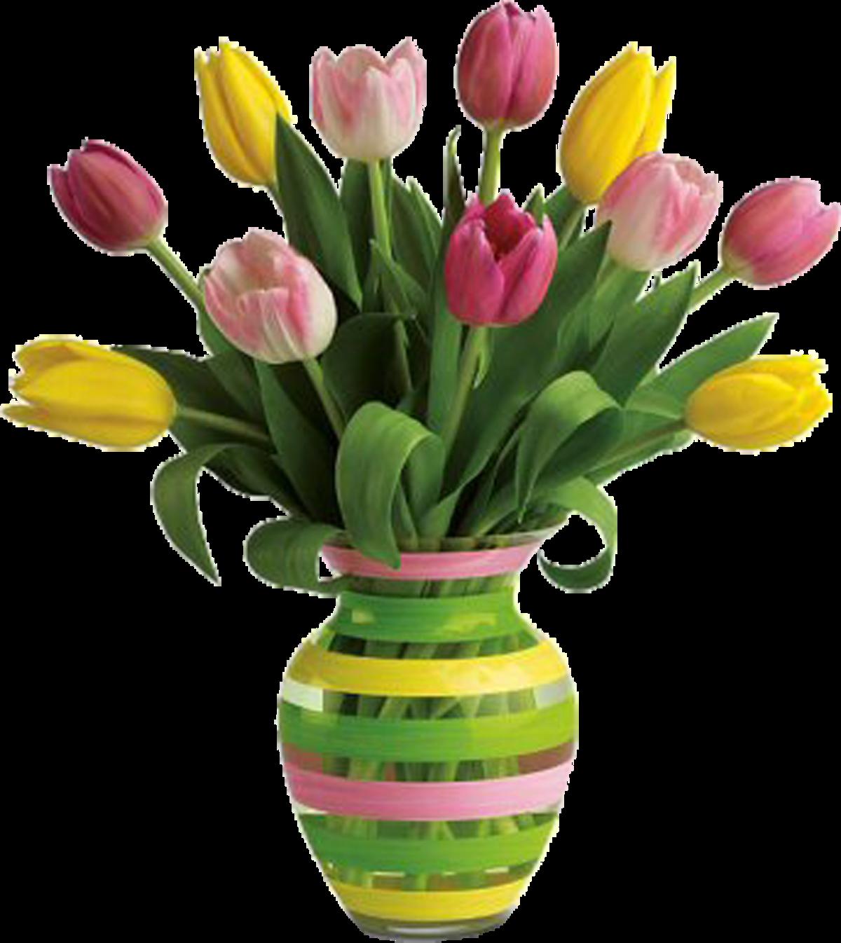 Картинка букет цветов в вазе для детей