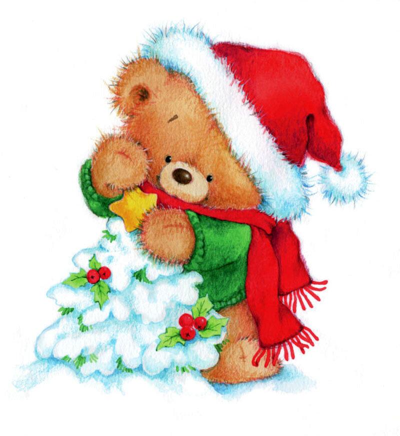 Рождеством, красивые открытки со зверюшками под новый