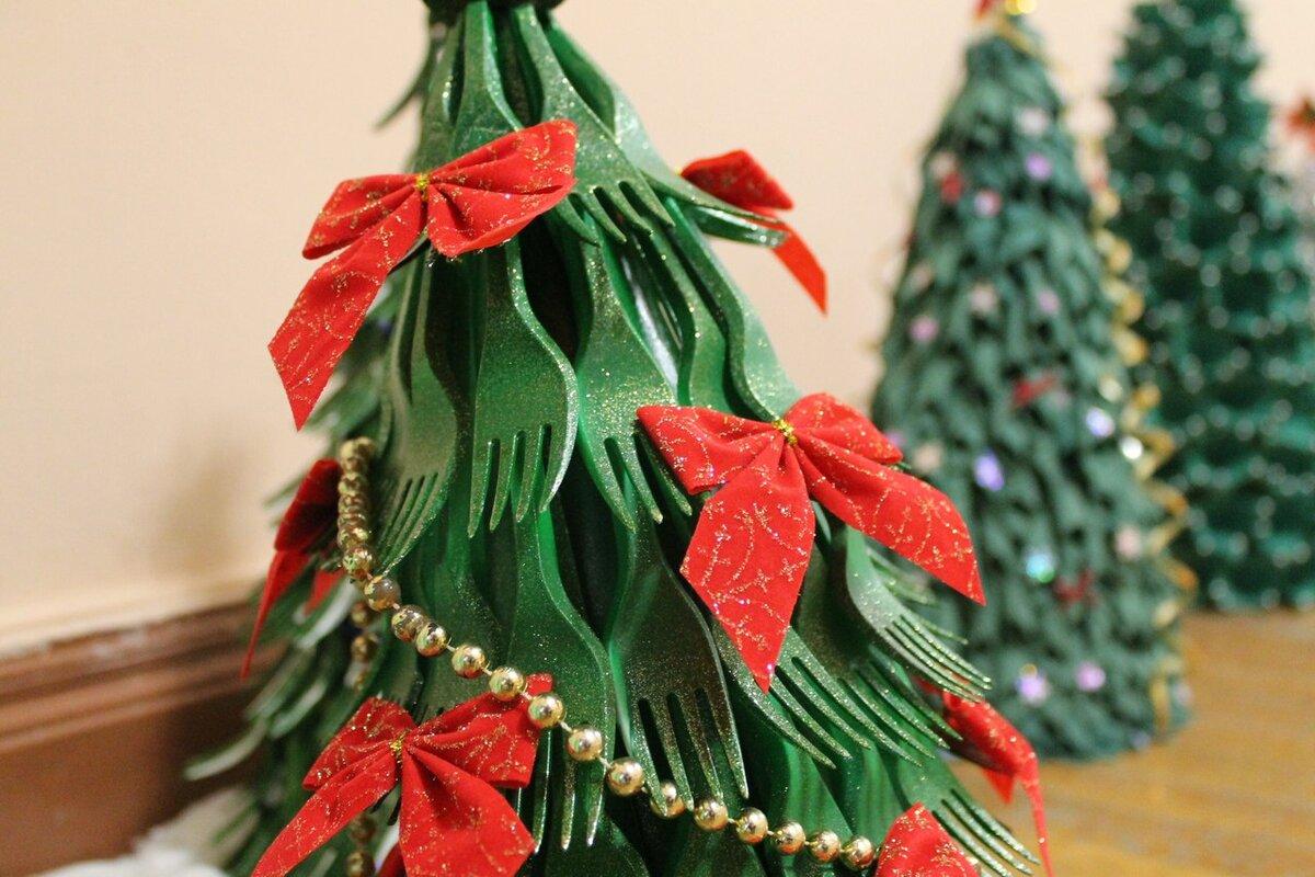 Картинки новогодние елки своими руками