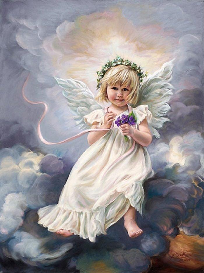 Поздравление, картинки с изображением ангелов