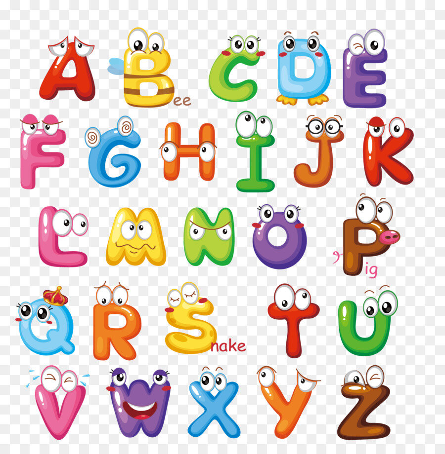 английский алфавит в красочных картинках