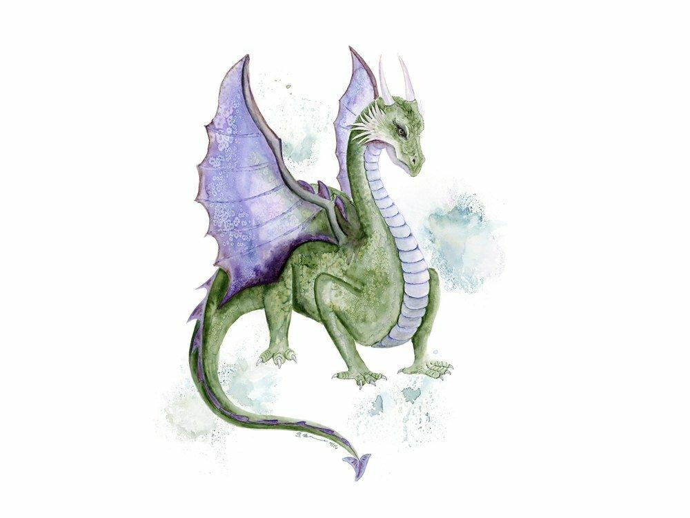 Картинки зеленого дракона карандашом