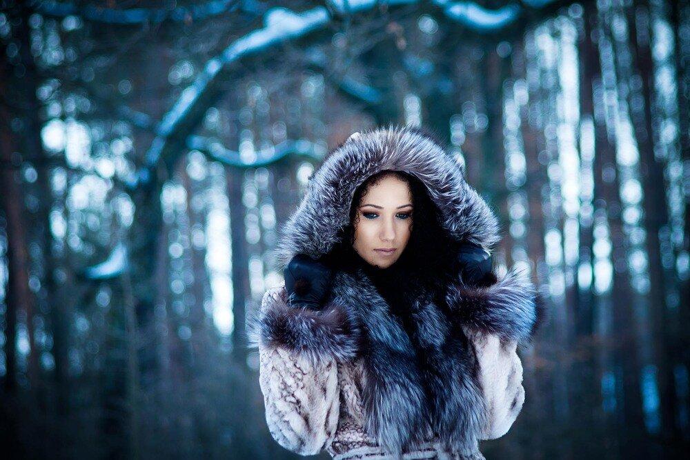 Брюнетки зима картинки