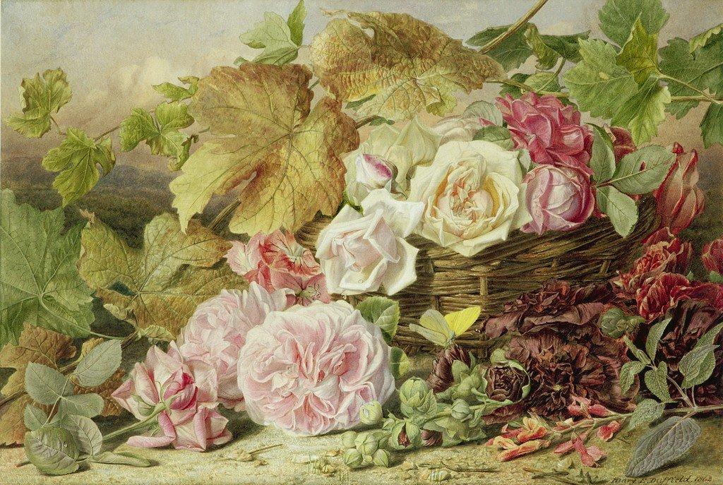 Открытки 19 века с цветами