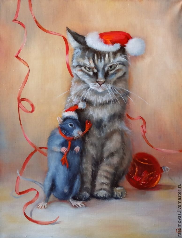 открытки кошка и крыса рассказывает дельфинах
