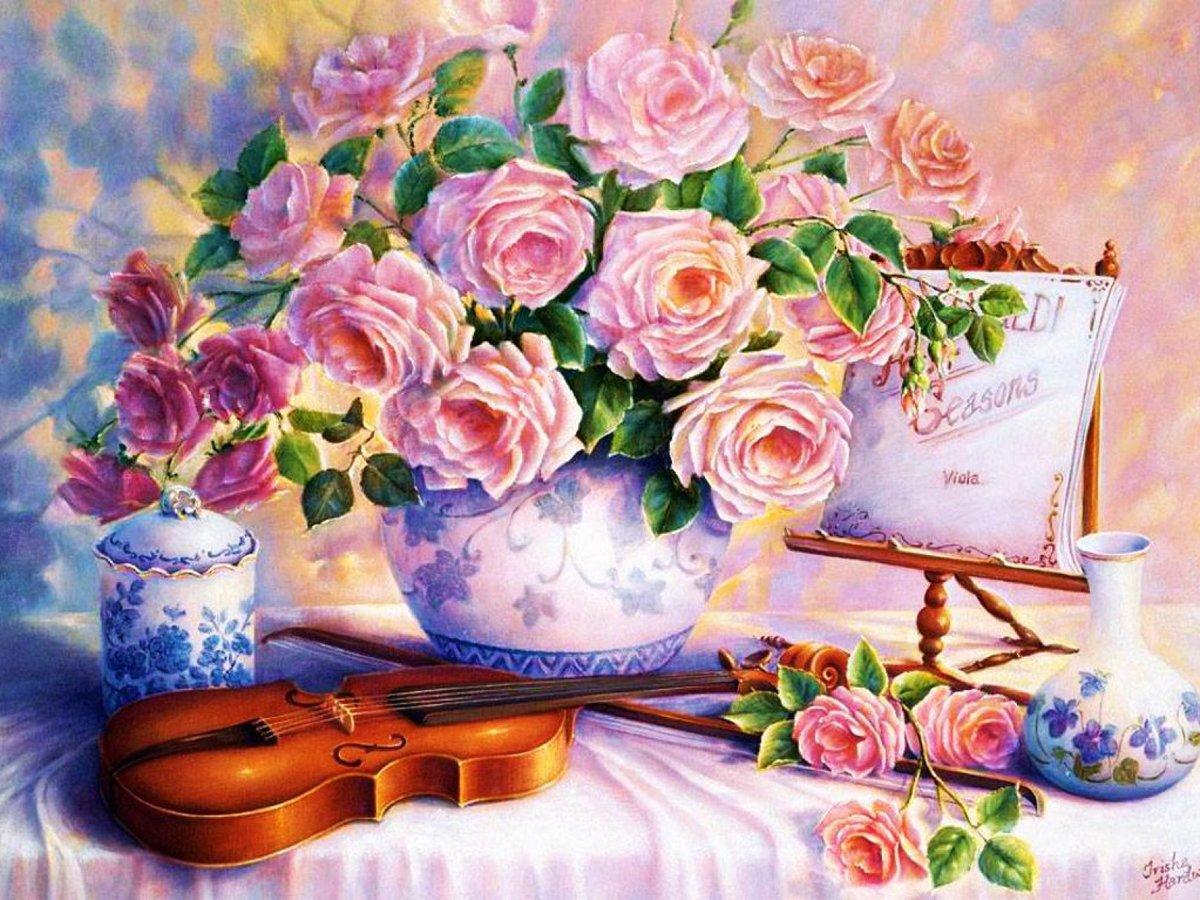 Красивые открытки художественные, открытка поздравительные